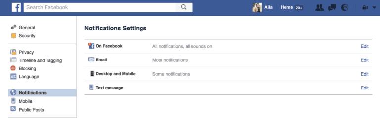 Social Media Marketing Facebook Notifications